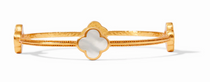 Chloe Bangle - Gold Mother of Pearl