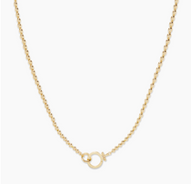 Parker Bead Necklace- Gold