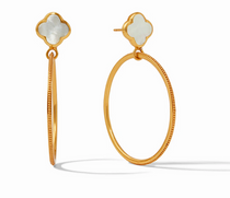 Chloe Cirque Earring - Gold Mother of Pearl