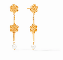Colette Duster Earring - Gold Pearl