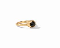 Jewel Stack Ring Gold Iridescent - Obsidian Black -7