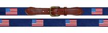 Needlepoint Belt - American Flag Navy