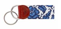Needlepoint Key Fob - Blue Canton