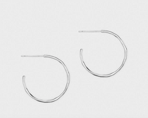 Taner Small Hoops - Silver