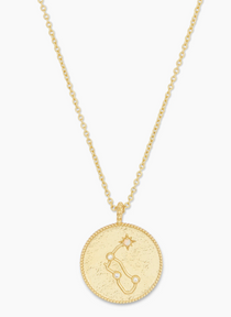 Astrology Coin Necklace (Aquarius)