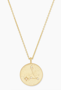 Astrology Coin Necklace (Pisces)