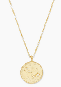 Astrology Coin Necklace (Scorpio)