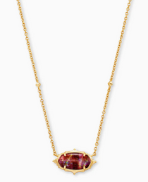 Baroque Elisa Pendant Necklace- Gold Mauve Abalone