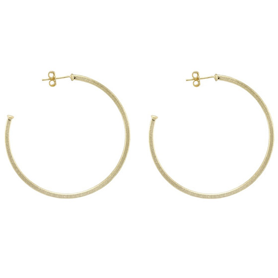 Perfect Hoop Earrings - Brushed Gold Plated
