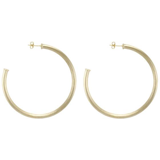 Everybody's Favorite Hoop Earrings - Brushed Gold