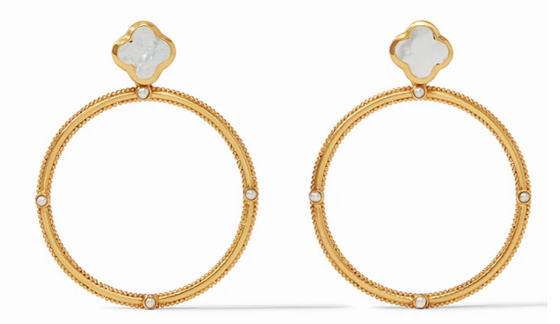 Chloe Statement Earring - Mother of Pearl