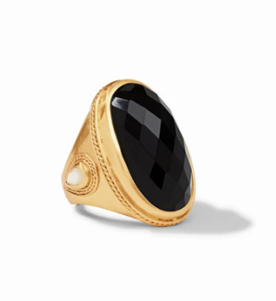 Cassis Ring - Obsidian Black