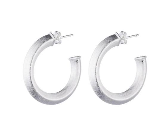 Cleo Hoop Earrings - Silver Plated