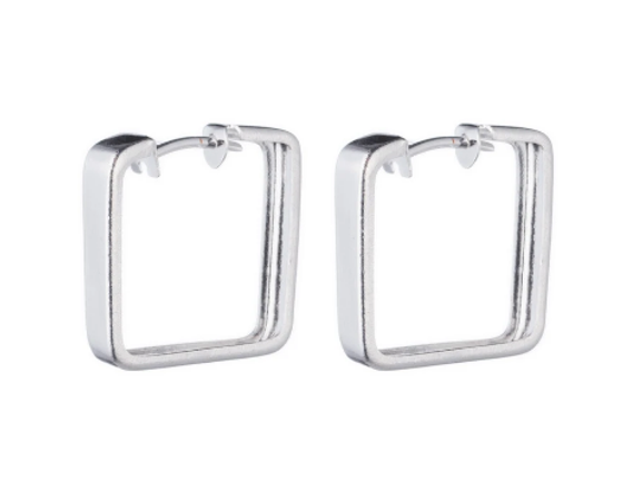 Lina Hoop Earring - Silver Plated