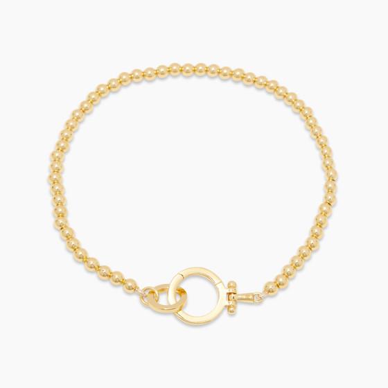 Parker Bead Bracelet- Gold