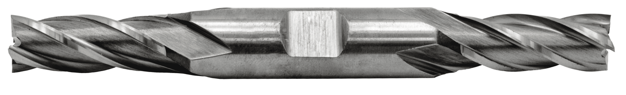 Metric 12.00 mm, 1/2 in. Shank Dia. Four Flute End Mill HS Double End