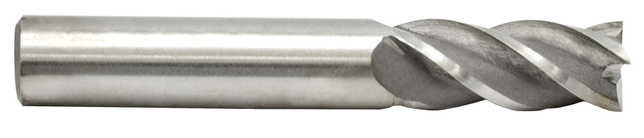 Metric 14.00 mm, 1/2 in. Shank Dia. Four Flute End Mill HS Single End