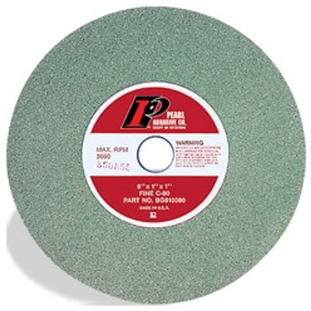 "Green SC Bench Grinding Wheels for Metal, 6"" x 3/4"" x 1"", Type 1 Shape C80"