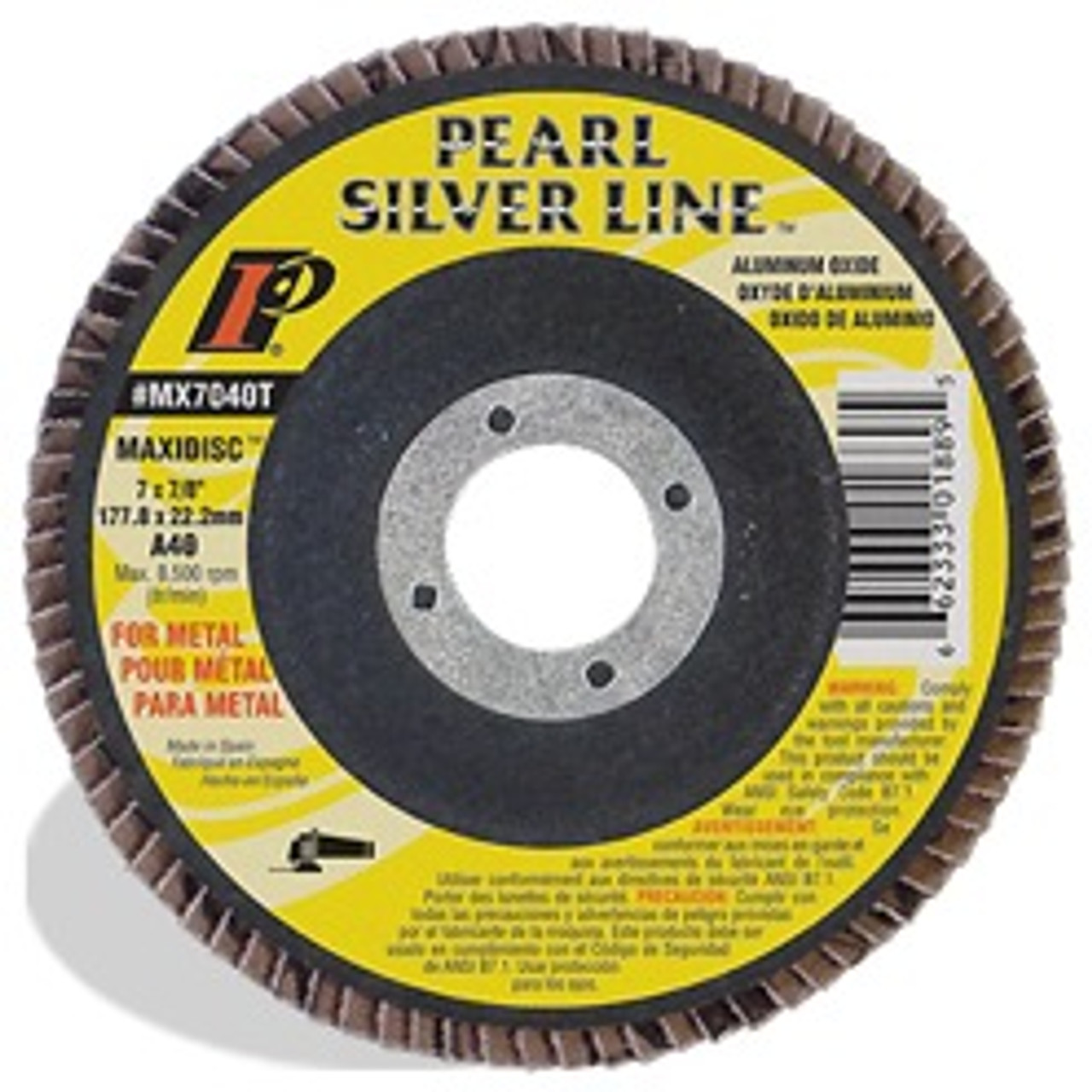 4-1/2 x 5/8-11 Silver Line䋢 AO Maxidisc䋢 Flap Discs for Metal, Type 27 Shape A40