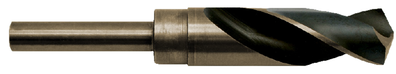 Cobalt 1-1/8 Silver and Deming Drill Bit 1/2 inch Shank