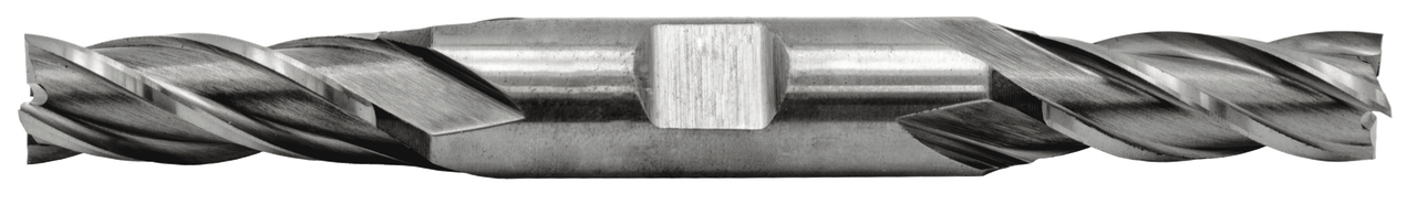 Double End Mill 4 Flute, High Speed 1/8 Dia., 3/8 Length of Cut