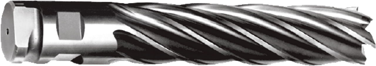 """H/D End Mill 2-1/2"""", Length of Cut: 8"""", O.A.L. 11-3/4"""", 6 Flute, High Speed wi"""