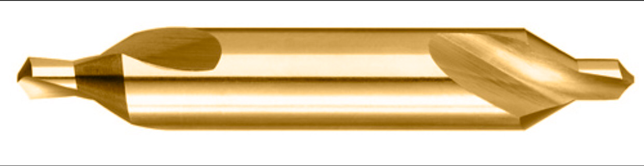 Titanium Coated Combined Drill and Countersink, H.S., Size  Ê  Ê
