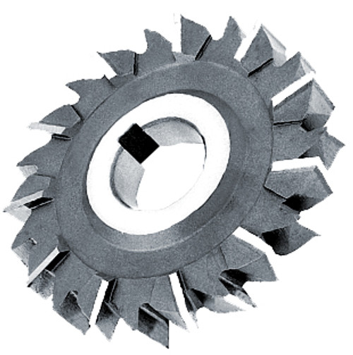 """Staggered Teeth 6""""x  1-1/8"""" x 1-1/4"""" Side Milling Cutter HS"""