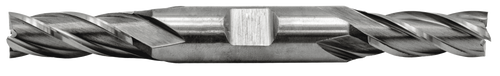 Double End Mill 4 Flute, High Speed 9/16 Dia.,1-3/8 Length of Cut