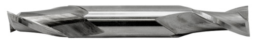 Double-End End Mill 2 Flute, High Speed 1/4 Dia.,1/2 Length of Cut,3-1/8 O.A.L