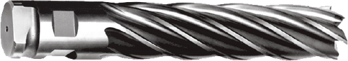 """H/D End Mill 3"""", Length of Cut: 6"""", O.A.L. 9-3/4"""", 6 Flute, High Speed with Comb"""