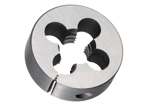 "Carbon Steel 10.00mm x .75mm, 1-1/2"" O.D., Round Adjustable H.S. Split Die Right Hand"