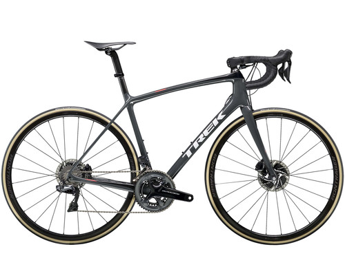 Bici da Corsa Trek Domane SLR9Disc 2019 Solid Charcoal/Trek Black vista laterale