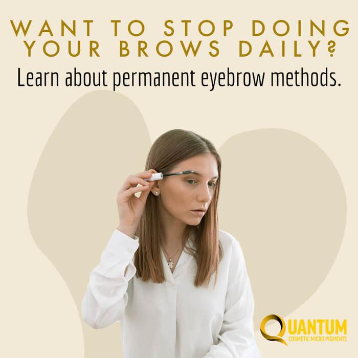 Understanding Permanent Makeup Methods for Eyebrows