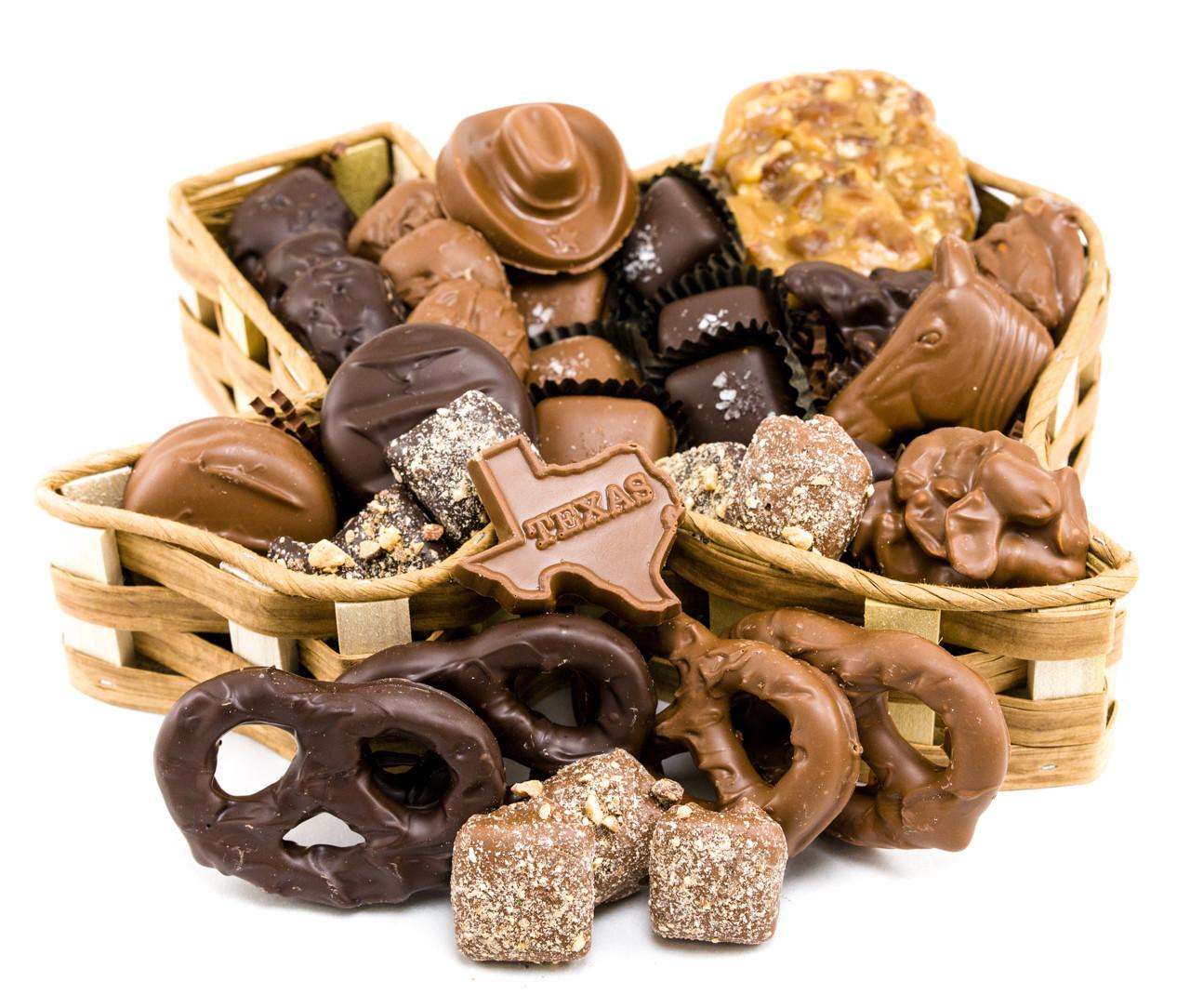 Texas Chocolate Basket - Goodies Texas