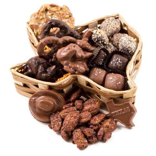 Texas Chocolate Basket - Medium