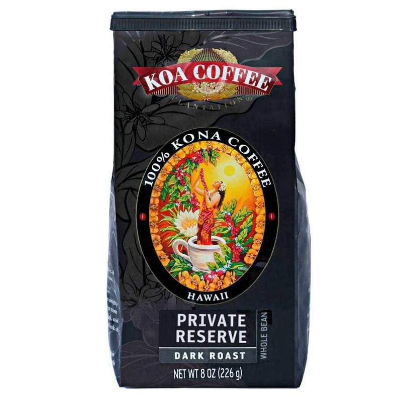 Private Reserve Kona Coffee Dark Roast Whole Bean Kona Coffee