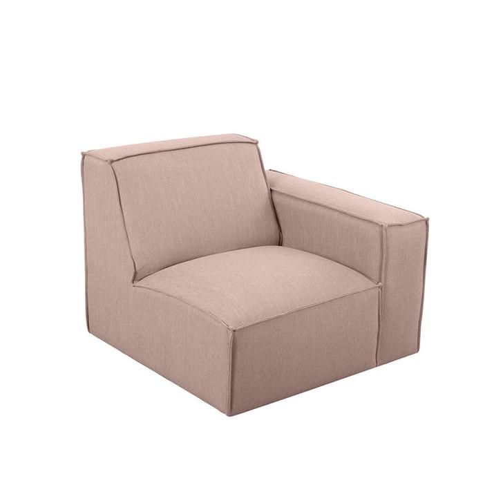 Ivanna Fabric Right Arm Modular Sofa - Pink