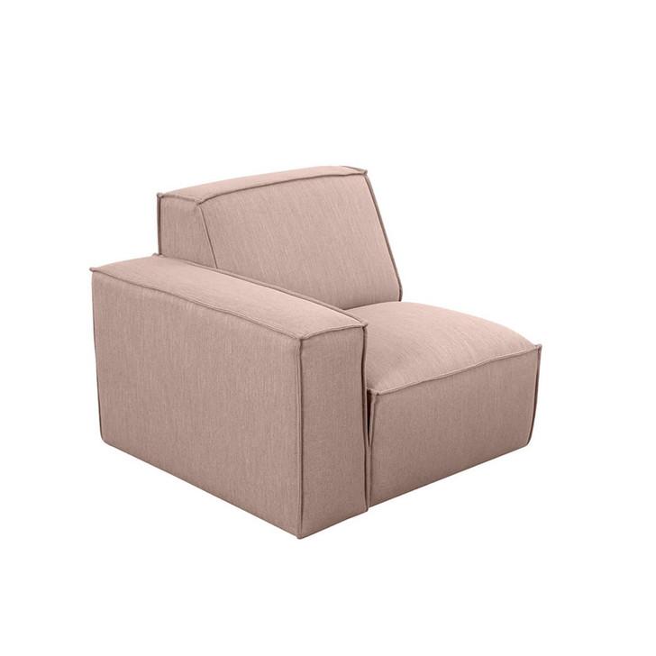 Ivanna Fabric Left Arm Modular Sofa - Pink