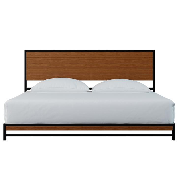 Luxo Beyond Timber Industrial Platform Bed - King