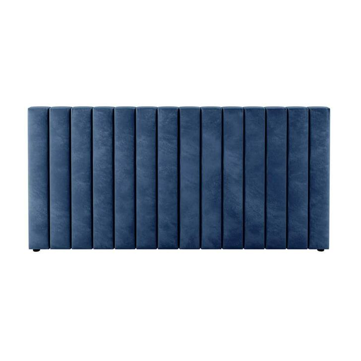 Aquila Extra Wide Double Upholstered Bed Headboard - Blue