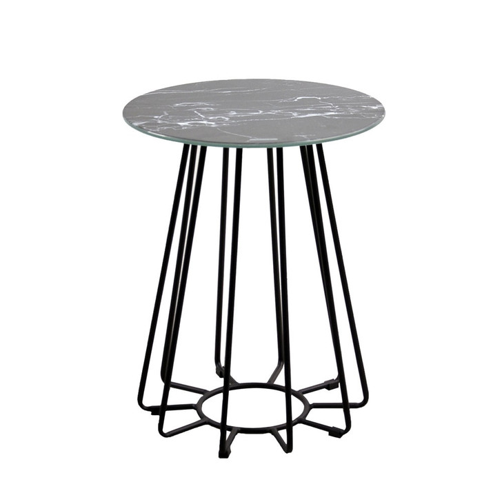 Dalselv Small Wire Coffee Table - Black Marble