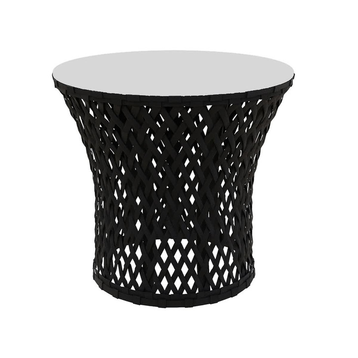 Boyer Aluminium Outdoor Rope Side Table - Black