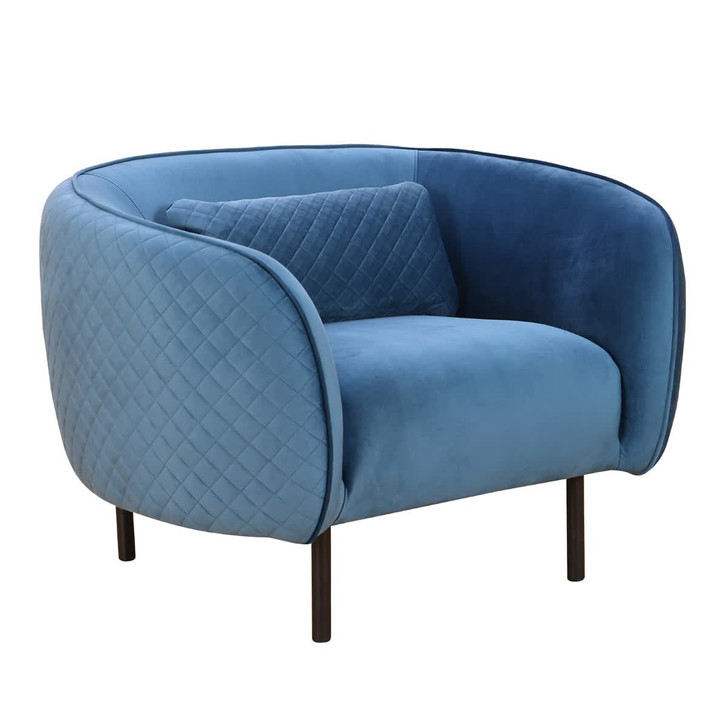 Andrei Accent Chair with Steel Legs