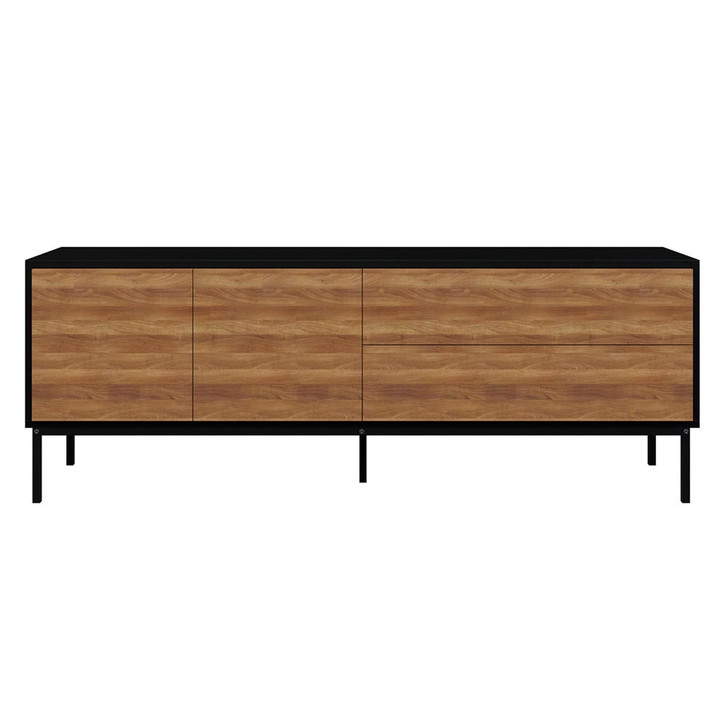 Dylan Sideboard Buffet with Cabinet & Drawers - Black