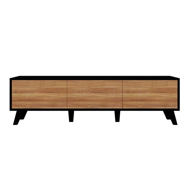 Gino Entertainment Unit with Drawers and Cabinet - Black