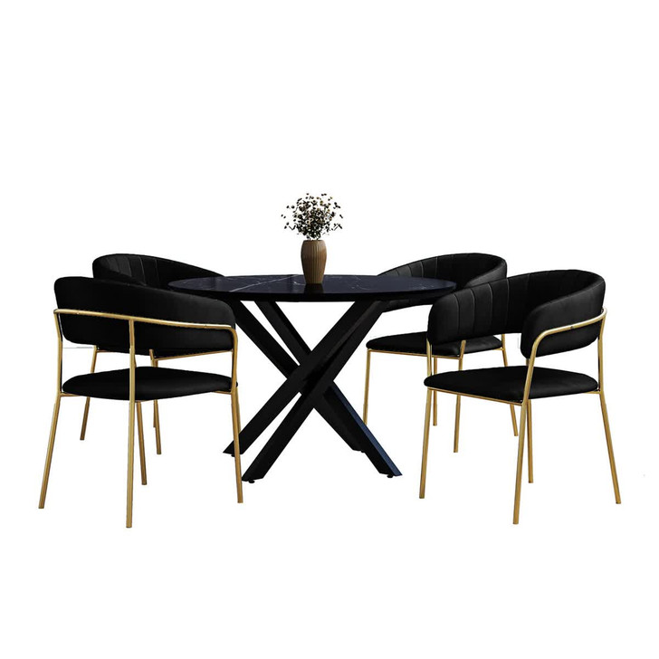 Stoten Table with Charles Chair Dining Set