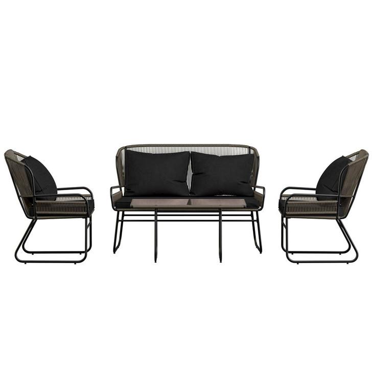 Nami 4 Seater Wicker Outdoor Conversation Set