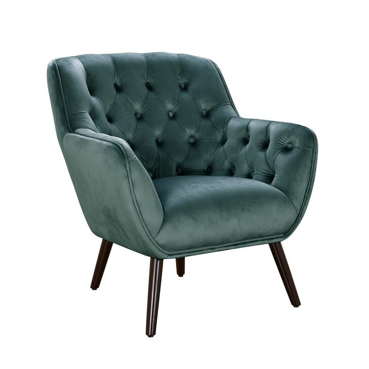 Shanelle Tufted Velvet Accent Chair