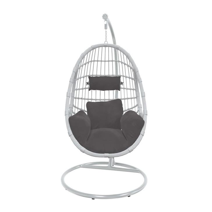 Arica Hanging Swing Egg Chair- White